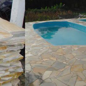 Revestimento Piso Piscina São Tomé Irregular